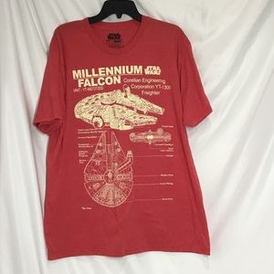 Star Wars Millennium Falcon Detailed Drawing Tee